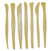 """Creativity Street Plastic Modeling Tools, Plastic, 6"""" Long, 7 Tools With Assorted Tips, Yellow"""