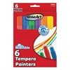 RoseArt Washable Tempera Painters, Assorted, 6 per set