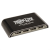 4-Port USB Mini Hub, Black/Silver