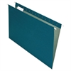 Earthwise Recycled Hanging File Folders, 1/5 Tab, Legal, Blue, 25/Box