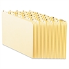 Pendaflex Recycled Top Tab File Guides, Alpha, 1/5 Tab, Manila, Letter, 25/Set