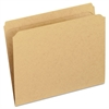 Two-Ply Dark Kraft File Folders, Straight Cut, Top Tab, Letter, Brown, 100/Box