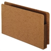 Heavy-Duty End Tab File Pockets, Straight Cut, 1 Pocket, Legal, Brown