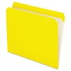 Reinforced Top Tab File Folders, Straight Cut, Letter, Yellow, 100/Box