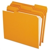 Reinforced Top Tab File Folders, 1/3 Cut, Letter, Orange, 100/Box