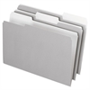 Pendaflex Interior File Folders, 1/3 Cut Top Tab, Legal, Gray, 100/Box