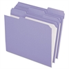 Pendaflex Reinforced Top Tab File Folders, 1/3 Cut, Letter, Lavender, 100/Box