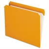 Reinforced Top Tab File Folders, Straight Cut, Letter, Orange, 100/Box