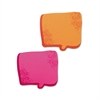 Redi-Tag Thought Bubble Notes, 2 3/4 x 2 3/4, Neon Orange/Magenta, 75-Sheet Pads, 2/Set