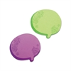 Redi-Tag Thought Bubble Notes, 2 3/4 x 3, Green/Purple, 75-Sheet Pads, 2/Set