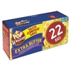 Pop Weaver Microwave Popcorn, Extra Butter, 2.5oz Bag, 22/Box