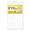 "Identity Group Self-Adhesive Caps and Numbers, Hobo, White, 2"", 79/Pack"
