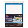 Self-Adhesive Project Paper, 8-1/2 x 11, White with Blue Border, 8/Pack