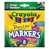 Washable Poster Markers, Assorted, 8/Pack