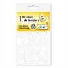 "Self-Adhesive Caps and Numbers, Hobo, White, 1"", 93/Pack"