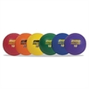 "Champion Sports Rhino Playground Ball Set, 10"" Diameter, Rubber, Assorted, 6 Balls/Set"