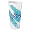 SOLO Cup Company Eco-Forward Treated Paper Cold Cups, 22oz, Jazz Design, 50/Pack, 20 Packs/Carton
