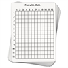 Creativity Street Math Dry Erase Whiteboard, 9 x 12, Grid, 10/Pack