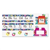 TREND Owl Stars Alphabet Line Bulletin Board Set, 12 3/4 x 8 1/2, 29 pieces