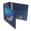 "Avery Heavy-Duty View Binder w/Locking 1-Touch EZD Rings, 4"" Cap, Navy Blue"