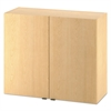 Hospitality Wall Cabinet, Two Doors, 36w x 14d x 30h, Natural Maple