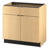HON Hospitality Double Base Cabinet, Two Doors/Drawers, 36 x 24 x 36, Natural Maple