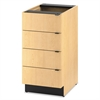 HON Hospitality Single Base Cabinet, Four Drawers, 18w x 24d x 36h, Natural Maple