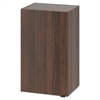 HON Hospitality Wall Cabinet, One Door, 18w x 14d x 30h, Columbian Walnut