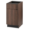 HON Hospitality Single Base Cabinet, Door/Drawer, 18w x 24d x 36h, Columbian Walnut