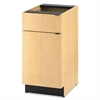 HON Hospitality Single Base Cabinet, Door/Drawer, 18w x 24d x 36h, Natural Maple