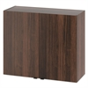 Hospitality Wall Cabinet, Two Doors, 36w x 14d x 30h, Columbian Walnut