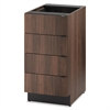 Hospitality Single Base Cabinet, Four Drawers, 18w x 24d x 36h, Columbian Walnut