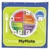 Learning Resources Healthy Helpings My Plate Pocket Chart with 90 Food Cards, 7 Pockets, 28 x 28