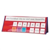 Place Value Tabletop Pocket Chart with 210 Cards, 17 Pockets, 24 x 9 x 7
