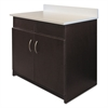 Hosp. Base Cabinet, 2 Doors/2 Flipper Doors, 36w x 24 3/4d x 40h, Espresso/White