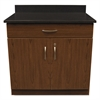 Alera Plus Hosp. Base Cabinet, Two Doors/Drawer, 36w x 24 3/4d x 40h, Cherry/Granite Nebula