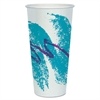Double Sided Poly Paper Cold Cups, 24oz, Jazz Design, 50/Pack, 20 Packs/Carton