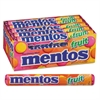 Mentos Chewy Mints, 1.32 oz, Mixed Fruit, 15 Rolls/Box