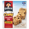 Quaker Granola Bars, Chewy Chocolate Chip, .84 oz Bar, 8/Box