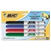 BIC Great Erase Grip Fine Point Dry Erase Marker, Assorted, 4/Set