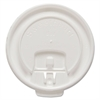 SOLO Cup Company Liftback & Lock Tab Cup Lids for Foam Cups, Fits 8 oz Trophy Cups, WE, 100/PK