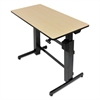 WorkFit D Sit-Stand Workstation, 47 5/8 x 23 1/2 x 50 5/8, Birch/Black