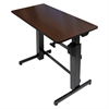WorkFit D Sit-Stand Workstation, 47 5/8 x 23 1/2 x 50 5/8, Walnut/Black