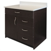 Alera Plus Hospitality Base Cabinet, Four Drawers/Door, 36w x 24 3/4d x 40h, Espresso/White