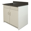 Alera Plus Hosp Base Cabinet, 2 Door/2 Flipper Doors, 36 x 24 3/4 x 40, Gray/Granite Nebula