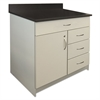 Alera Plus Hosp. Base Cabinet, Four Drawer/Door, 36 x 24 3/4 x 40, Gray/Granite Nebula