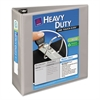 "Avery Heavy-Duty View Binder w/Locking 1-Touch EZD Rings, 4"" Cap, Gray"