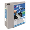 "Avery Heavy-Duty View Binder w/Locking 1-Touch EZD Rings, 5"" Cap, Gray"