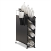 San Jamar Wireworks Cup Dispenser and Lid Organizer, 3-Tier, Holds 270 Cups, Metal, Black