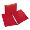 "Hanging Storage Binder with Gap Free Round Rings, 11 x 8 1/2, 1"" Capacity, Red"